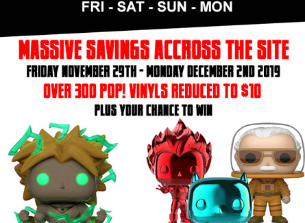 BLACK FRIDAY/CYBER MONDAY DETAILS