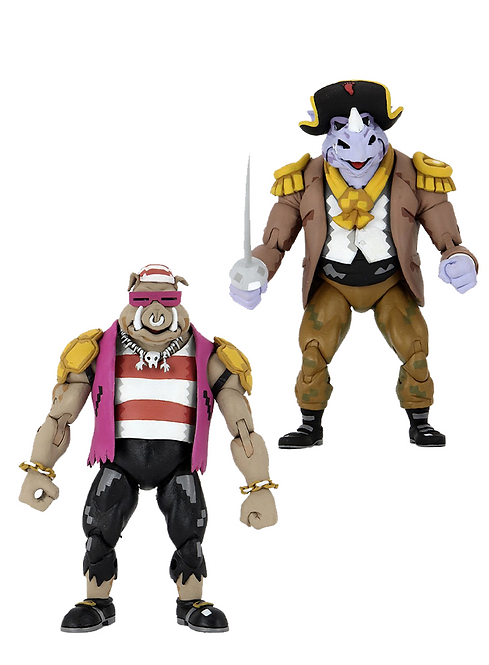 Teenage Mutant Ninja Turtles - Pirate Rocksteady & Bebop Action Figure 2-pack
