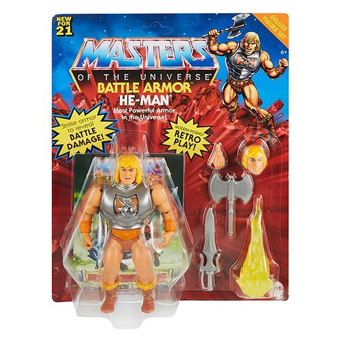 Masters Of The Universe Origins Deluxe Battle Armor He-Man Action Figure