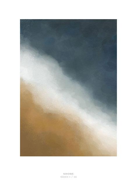 waves crashing against the sand painting, waves and the sea art print, Irish art prints