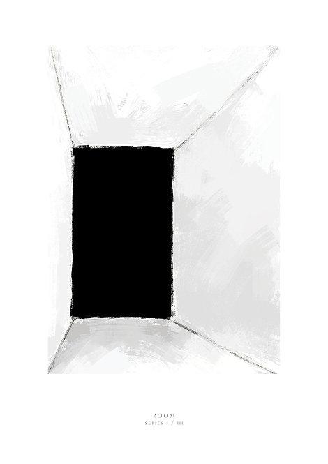 Dimension art print, black and white art, Irish art prints