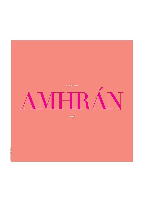 Amhrán means song in Irish language, Irish word poster, Irish prints, rarebirds art