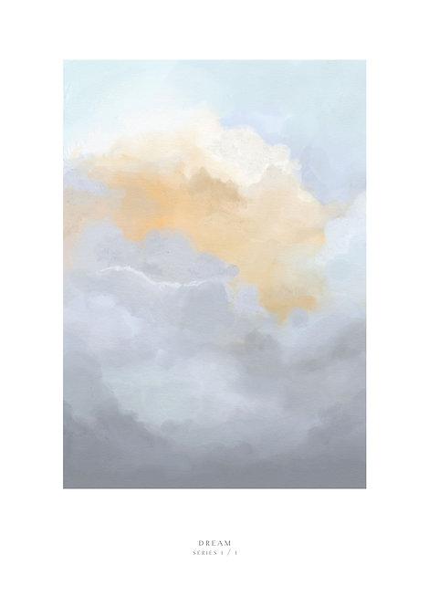Sun clouds, evening sky, sky painting, art, wall art, evening sky painting, rarebirds art