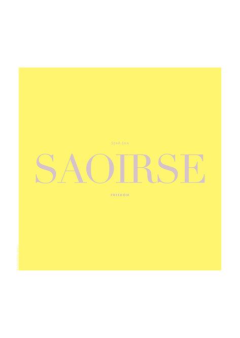 Saoirse in irish means freedom. Saoirse Poster, Irish prints, graphic design, rarebirds art
