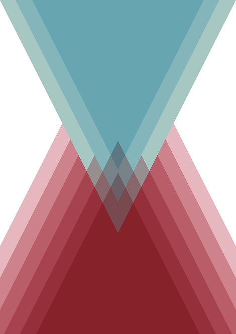 turquoise and red coloured print, geometric graphic print, art print, graphic art, wall art
