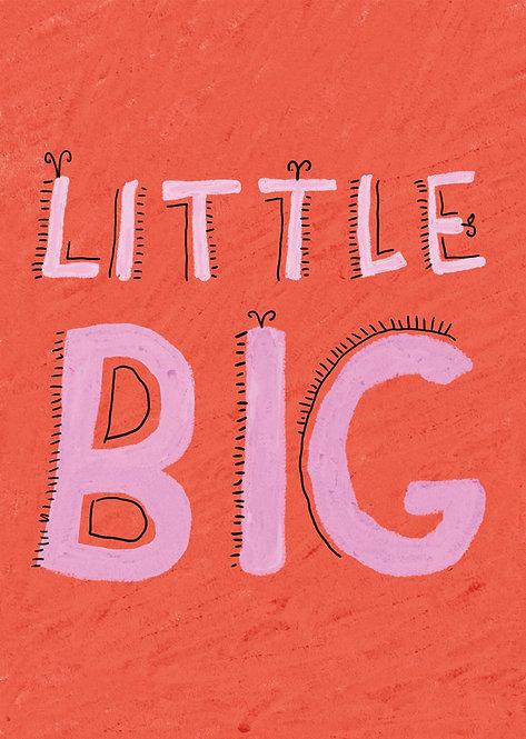 Kids little big art print, kids framed wall art, rarebirds art, words for kids poster, kids inspirational poster