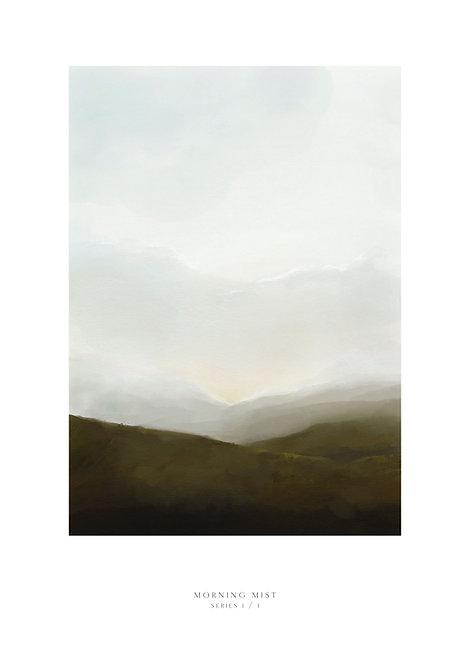 Irish art, wall art, clouds, evening sunset painting, Irish prints