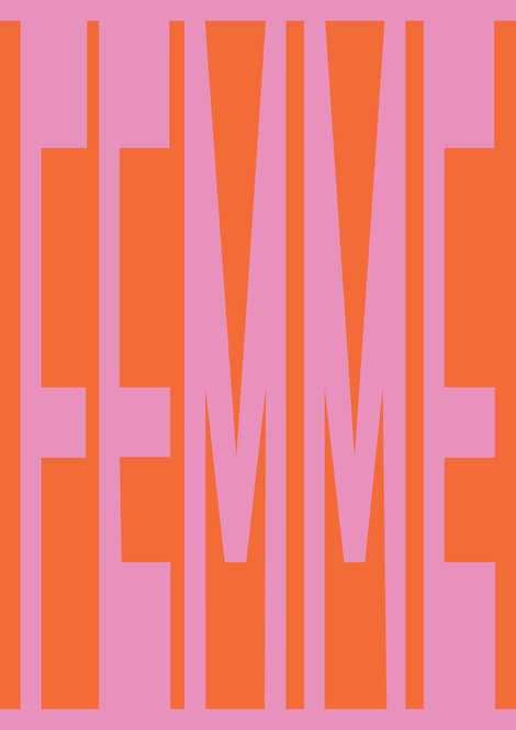 Femme word print, typographic poster, word art, graphic poster
