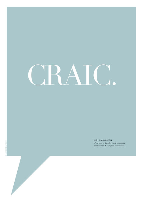 pops of colour graphic art word posters, Irish words posters, Irish wall prints