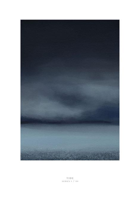 Irish art, Irish paintings, night sky and tide painting, wall art prints, Irish prints, Irish art, rarebirds art