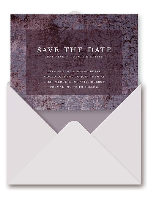 VINTAGE VELVET SAVE THE DATE eCARD