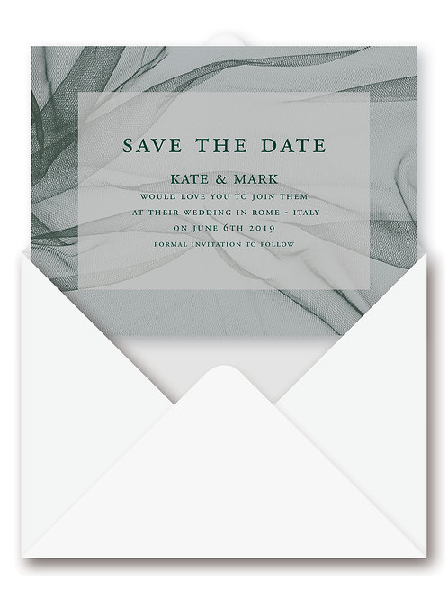 WILD TULLE SAVE THE DATE eCARD