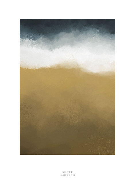 sand and sea painting, waves art print, waves crashing into the shore print