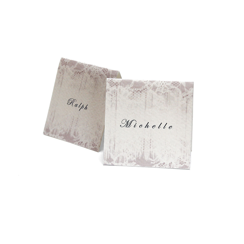 Gilded-lili's Faded Lace Placecards from the Enraptures Collection