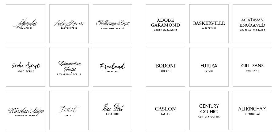 lettering styles for wedding invitations