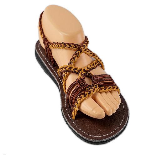 Braided sandals brown emmy style