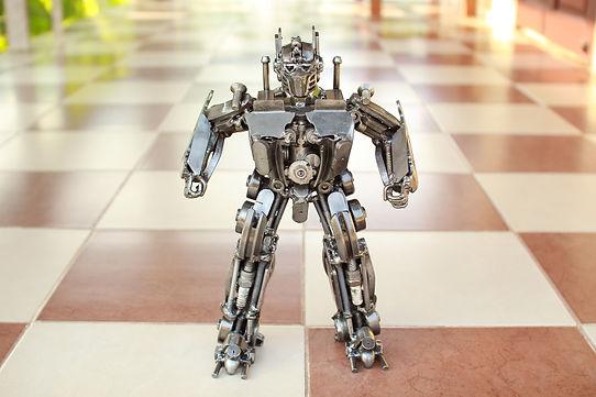 30cm optimus prime scrap metal sculpture front