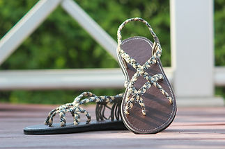sandals for women karen design grey cream color by nittynice