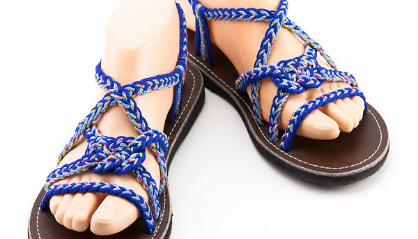 sandals for women vicky design blue color by nittynice