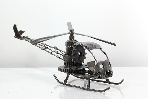 Helicopter bell model type 1 scrap metal sculpture