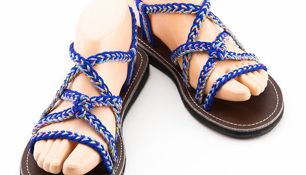 sandals for women kai design blue color by nittynice