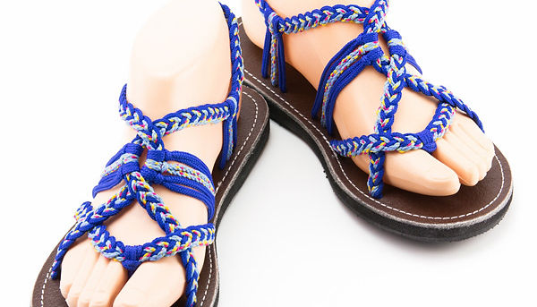 sandals for women luna design blue color by nittynice