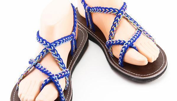 sandals for women karen design blue color by nittynice