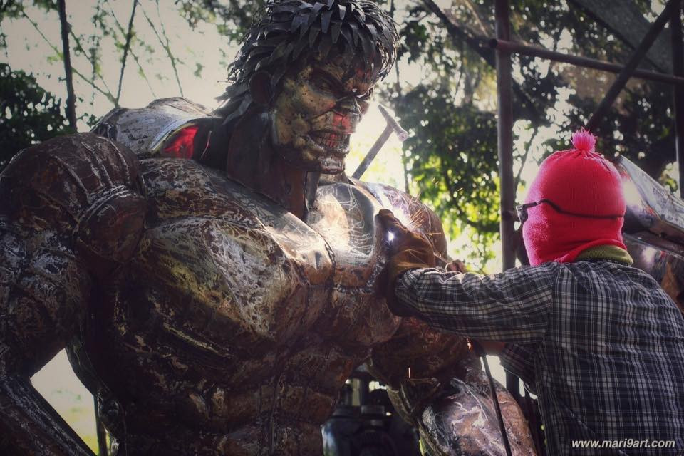 Hulk Metal sculpture