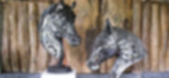 Horse head scrap metal artwork zoom 1