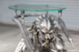 Predator metal sculpture table made to order