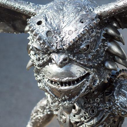 Stunning metal art gremlin