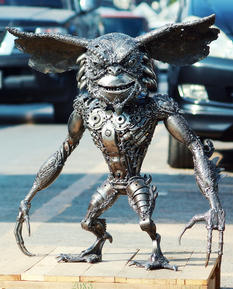 Gremlin metal sculpture