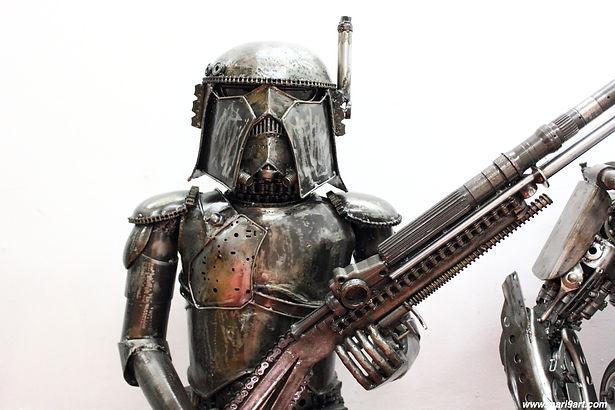 Star wars scrap metal art sculpture.