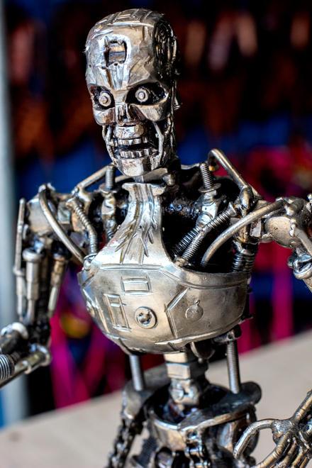 Terminator metal sculpture