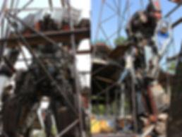 80% complete scrap metal robot large scale