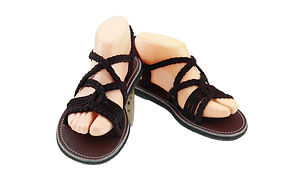 sandals for women emmy design solid brown color by nittynice
