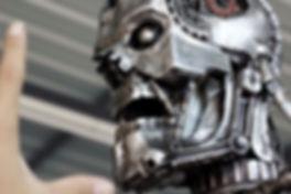 Terminator head metal art