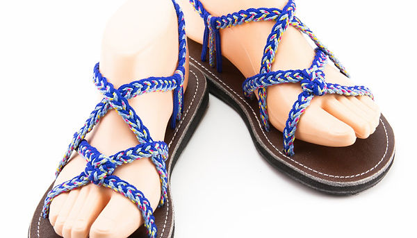 sandals for women zinnia design blue color by nittynice