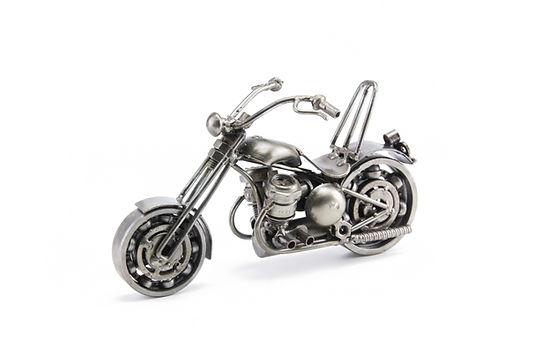 Chumps chopper bike model scrap sculpture made from scrap steel 2