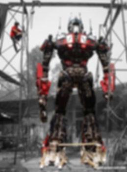 Biggest transformer scrap metal sculpture