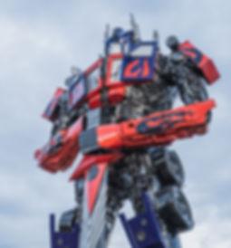 scrap metal large sculpture transformer optimus