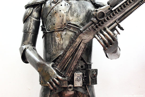 Strom trooper scrap metal body
