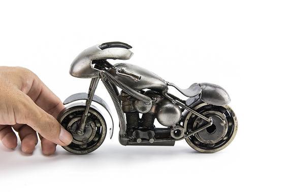Sport motorcycle scrap sculpture made from scrap metal 5