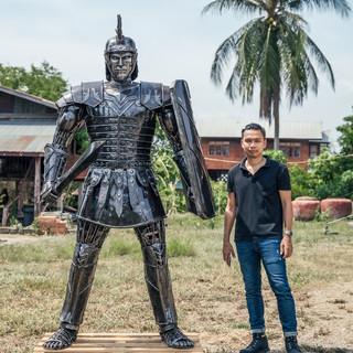 Roman warrior metal