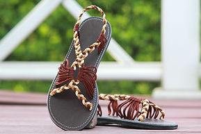 sandals for women bobby style brown color by nittynice