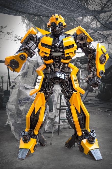 transformer bumblebee metal sculpture