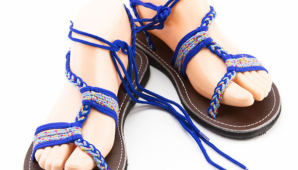 sandals for women zitra design blue color by nittynice