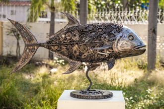 animal metal art sculpture by mari9art-1