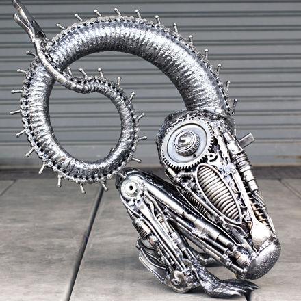 junk metal artwork