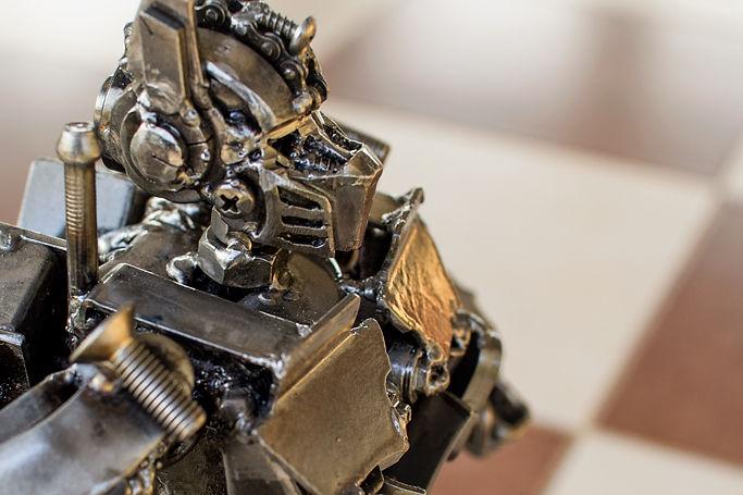 30cm optimus prime scrap metal sculpture zoom face